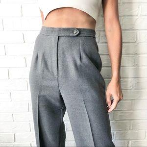 Vintage 70s high waist grey straight leg trousers